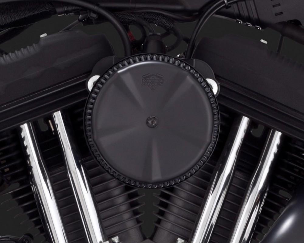 エアクリーナー・エアエレメント VO2 エアーインテーク(エアクリーナー) スカルキャップ ブラック(VO2 AIR INTAKE SKULLCAP BLACK)【INSERT A/C F/ V&H VO2 BLK [1010-0867]】