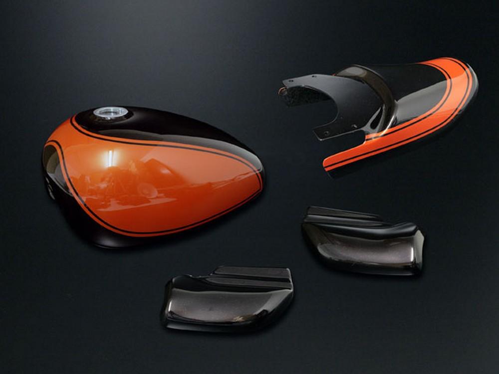 G-Craft Gクラフト ジークラフト フルカウル・セット外装 Z2塗装外装セット 火の玉カラー カラー:オレンジ ゴリラ モンキー