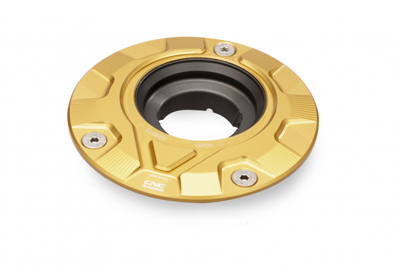 CNC Racing CNCレーシング フューエルタンクキャップ - フランジギヤ【Fuel tank cap - flange Gear】 カラー:ゴールド
