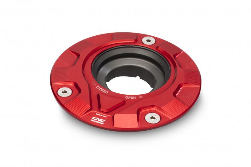 CNC Racing CNCレーシング フューエルタンクキャップ - フランジギヤ【Fuel tank cap - flange Gear】 カラー:レッド