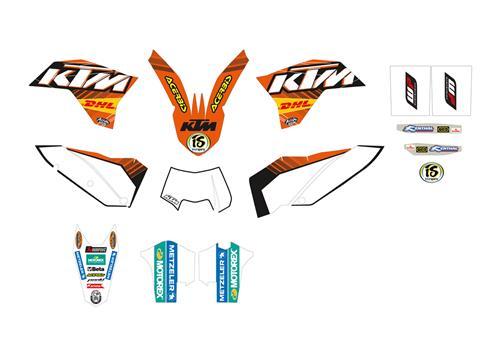 KTM POWER PARTS KTMパワーパーツ TOP FACTORY GRAPHICS KIT [GRAVITY グラフィックキット]