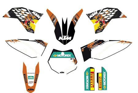 【ポイント5倍開催中!!】KTM POWER PARTS KTMパワーパーツ ステッカー・デカール USAファクトリーグラフィックキット 65 SX 2009-2015 65 SXS 2012-2013 65 XC 2009