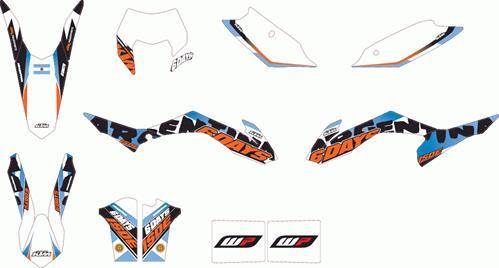 KTM POWER PARTS KTMパワーパーツ ステッカー・デカール SIX DAYS グラフィックキット「Argentina」