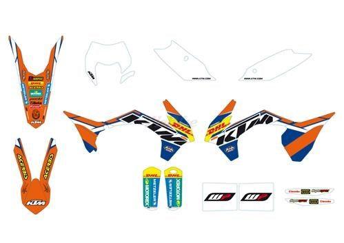 KTM POWER PARTS KTMパワーパーツ ステッカー・デカール ファクトリーエンデューログラフィックキット