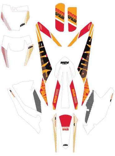 """【ポイント5倍開催中!!】【クーポンが使える!】 KTM POWER PARTS KTMパワーパーツ ステッカー・デカール Six days graphics kit""""Spain"""" [グラフィックキット「スペイン」]"""