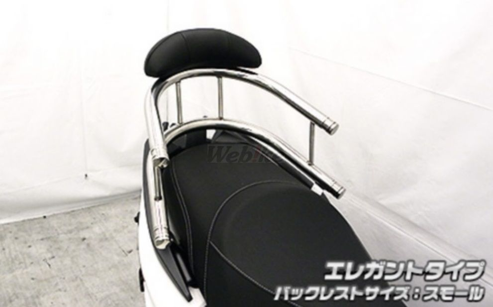 WirusWin ウイルズウィン バックレスト・グラブバー バックホールドタンデムバー タイプ:エレガントタイプ、バックレストタイプ:スモールタイプ RACING S 125
