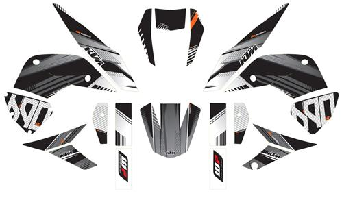 KTM POWER PARTS KTMパワーパーツ グラフィックキット「ストラクチャー」