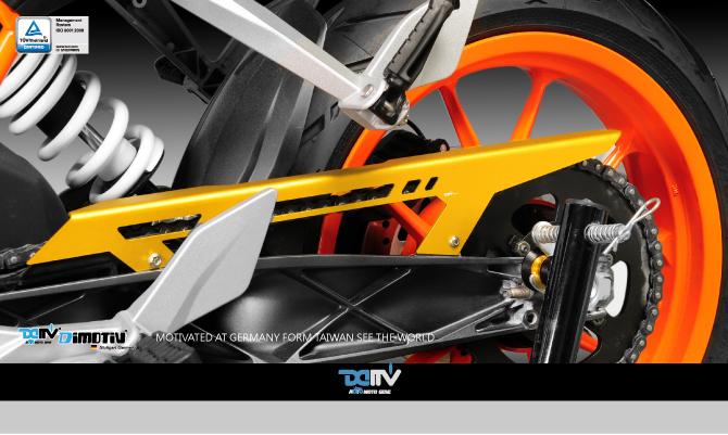 Dimotiv ディモーティヴ ガード・スライダー チェーンガードカバー (Chain Guard Cover) カラー:チタニウム 125DUKE 200DUKE 390DUKE
