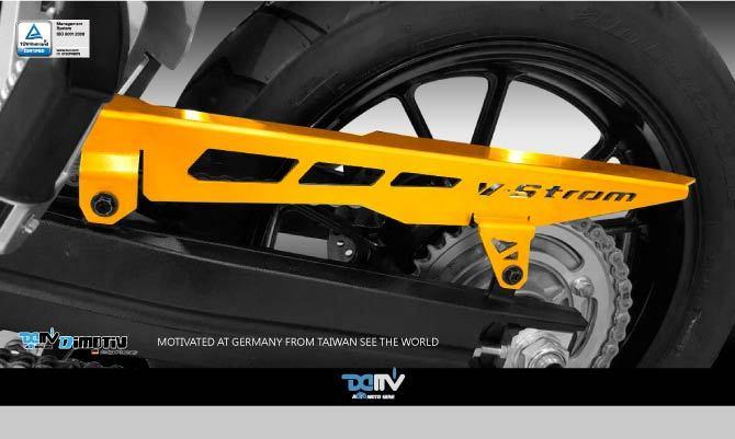 Dimotiv ディモーティヴ ガード・スライダー チェーンガードカバー (Chain Guard Cover) カラー:チタニウム Vストローム1000 Vストローム650