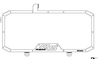 Dimotiv ディモーティヴ コアガード ラジエータープロテクタースタンダード(Radiator Protector - Standard) カラー:ブラック R1200R R1200RS