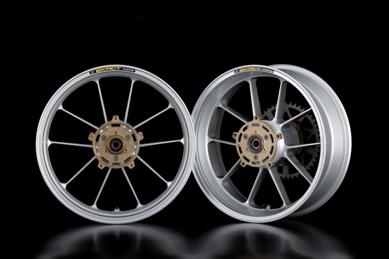 ADVANTAGE アドバンテージ ホイール本体 EXACT RACING10 フル鍛造マグネシウームホイール カラー:シルバー GSX-R1100H (86)