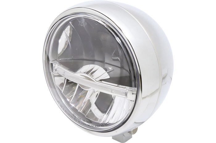 Highsider ハイサイダー ヘッドライト本体・ライトリム/ケース ジャックソン LED ヘッドライト カラー:クローム