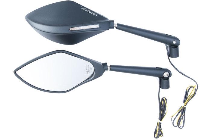 Highsider ハイサイダー ミラー類 フェアリングミラー W.LED、ブラック、ペア、E-APPR。