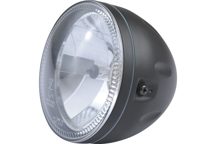 Highsider ハイサイダー ヘッドライト本体・ライトリム/ケース LEDパーキングライト付き ブラックヘッドライト