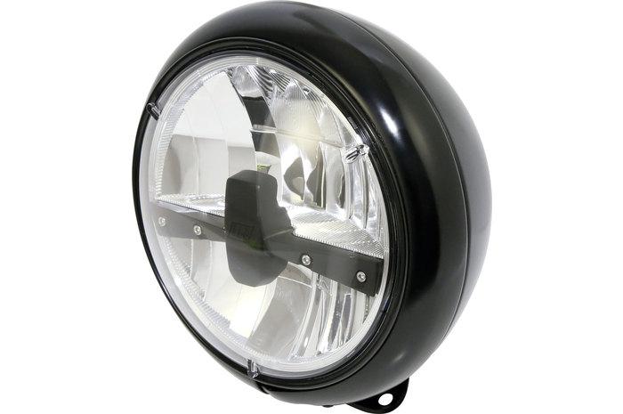 Highsider ハイサイダー ヘッドライト本体・ライトリム/ケース LEDヘッドライトスタイル、ブラック、7-INCH
