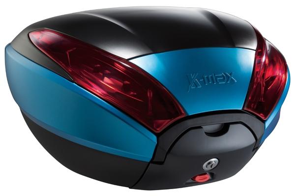 K-MAX ケーマックス トップケース・テールボックス K20 40L リアボックス ワーニングランプ付き カラー:ブルー