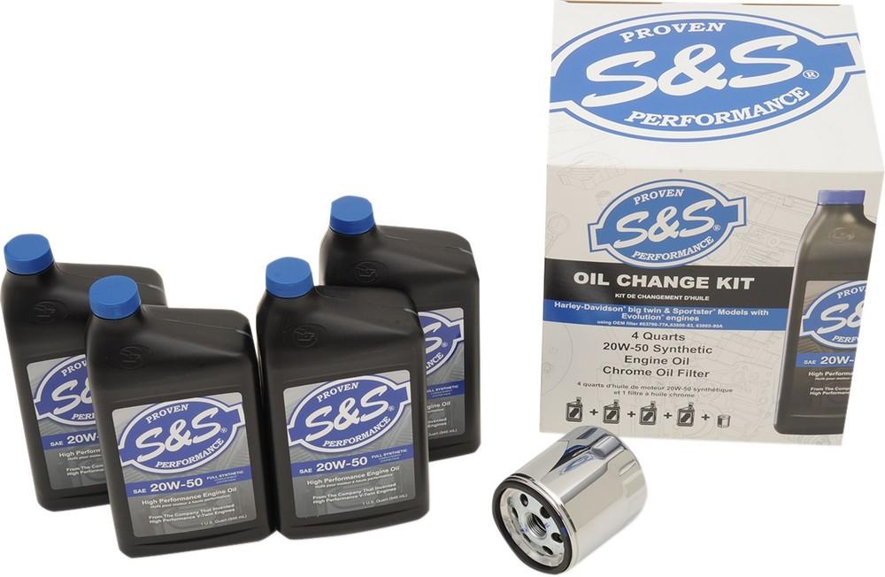S&S CYCLE エスアンドエス サイクル オイル関係用品 キット S&S オイルチェンジ EVO /XL 【KIT S&S OIL CHANGE EVO/XL [3601-0412]】