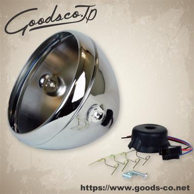 GOODS グッズ ヘッドライト本体・ライトリム/ケース 7インチルーカスタイプヘッドライト