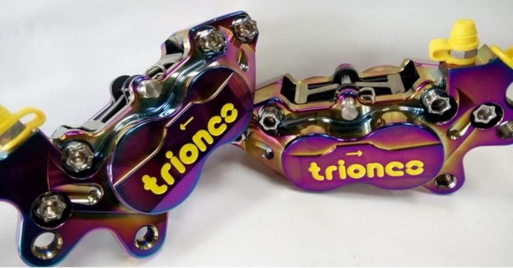 Triones トライオンズ CNC 4 ピストンキャリパー バーンド チタン カラー 左右:Right
