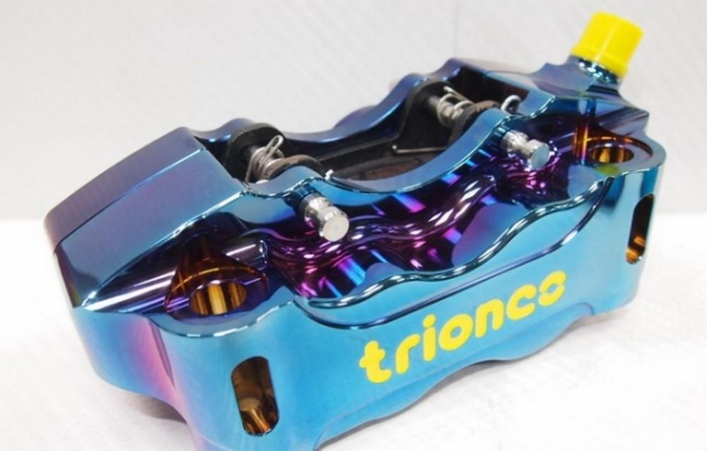 【クーポン配布中】Triones トライオンズ CNC HP ラジアルマウント 4 ピストンキャリパー (バーンド チタン カラー) 左右:Lift