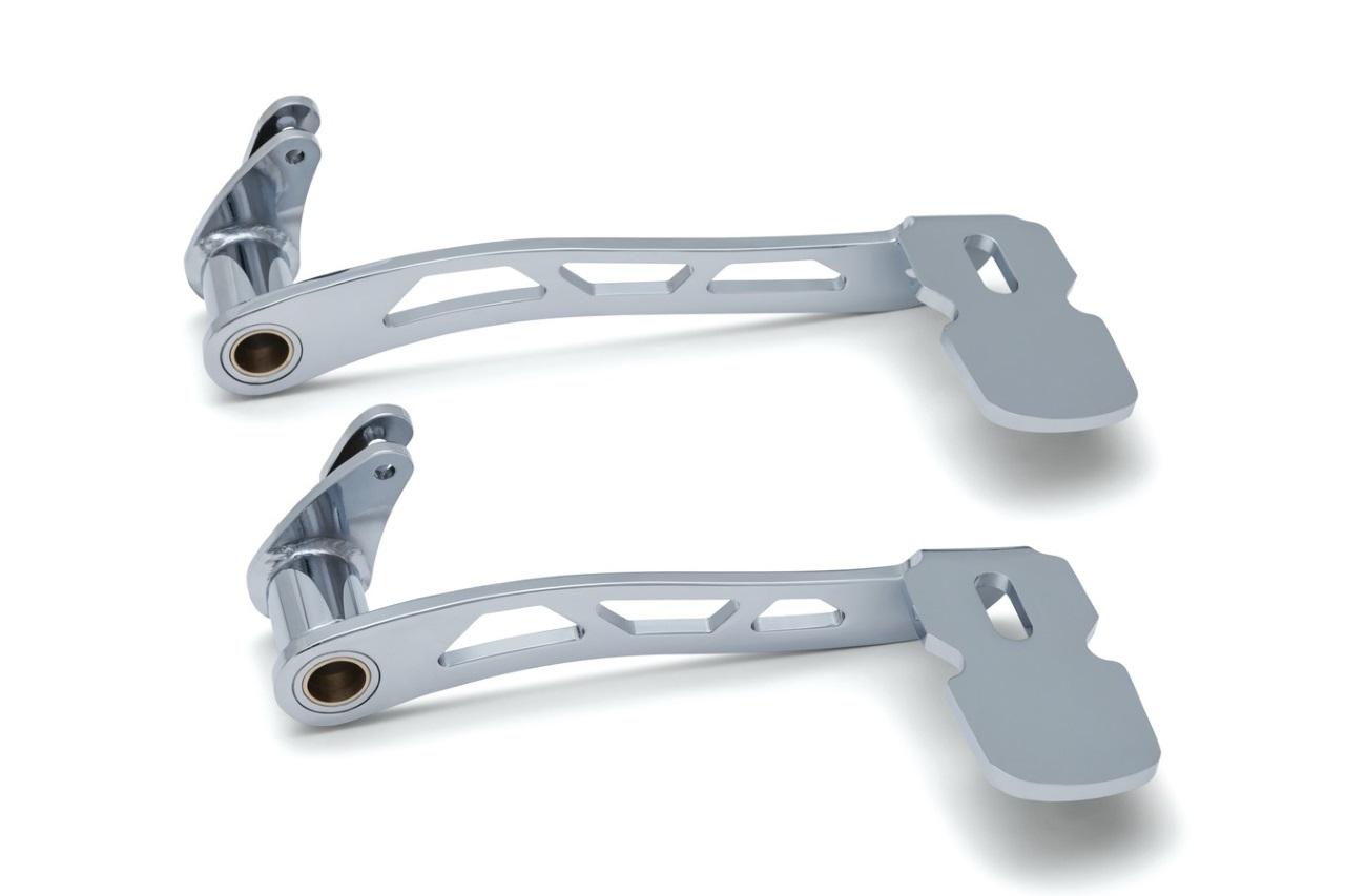Kuryakyn クリアキン ブレーキペダル・シフトペダル ブレーキペダル カラー:クロム 仕様:ロアフェアリング付き ツーリングモデル&トライク(14-17)