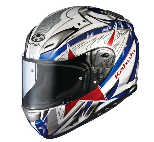 OGK KABUTO オージーケーカブト フルフェイスヘルメット AEROBLADE-III STELLATO [AEROBLADE-3 エアロブレード・スリー ステラート トリコロール] ヘルメット サイズ:S