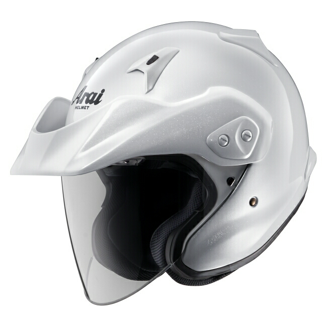 【在庫あり】Arai アライ ジェットヘルメット CT-Z [シーティーゼット グラスホワイト] ヘルメット サイズ:M(57-58cm)