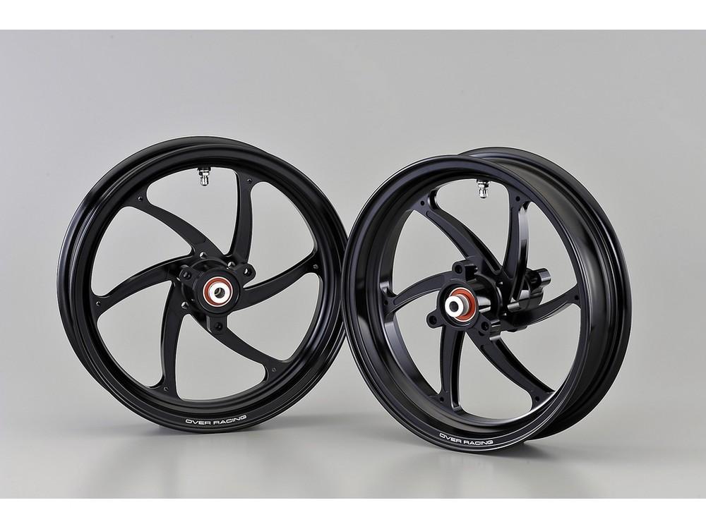 OVER オーヴァー ホイール本体 アルミ鍛造ホイール GP-SIX フロント用単体 カラー:ブラック NSF100 NSR50 NSR80 XR100モタード XR50モタード
