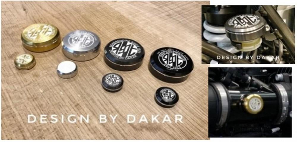 DK design ディーケーデザイン マスターシリンダー リアブレーキリザーバーキャップ+スロットルトリムカバー カラー:ゴールド RnineT