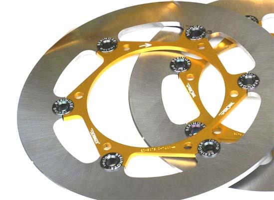 BERINGER ベルリンガー ディスクローター AERONAL DISC (エアロナルディスク) ステンレスローター カラー:ゴールド SR400(01-17) XJR1300(03-17) YZF-R1