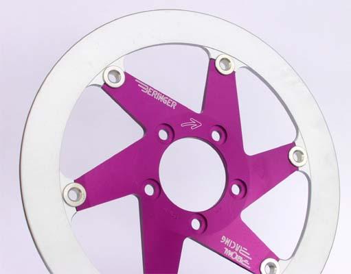 BERINGER ベルリンガー ディスクローター AERONAL DISC (エアロナルディスク) ステンレスローター カラー:パープル SR400(01-17) XJR1300(03-17) YZF-R1