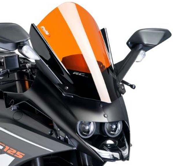 Puig プーチ レーシングスクリーン カラー:オレンジ RC125 RC390