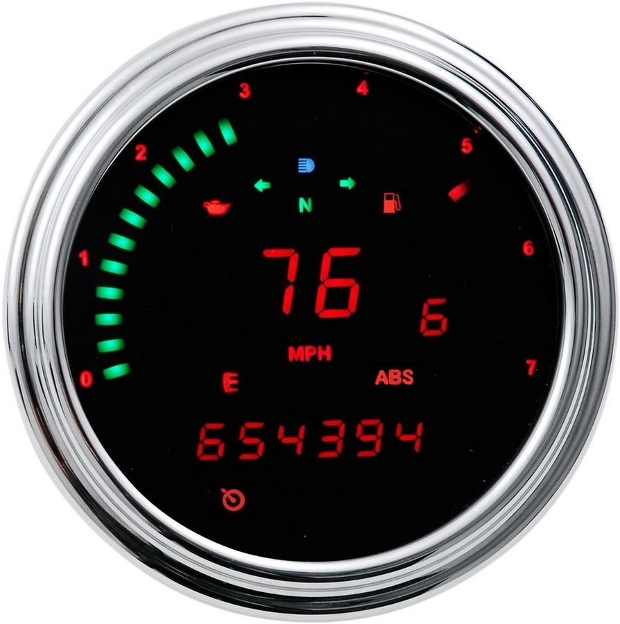 DAKOTA DIGITAL ダコタデジタル スピードメーター/タコメーター レッド 2000 CAN BUS【SPEEDO 2000 CAN BUS RED [2210-0262]】