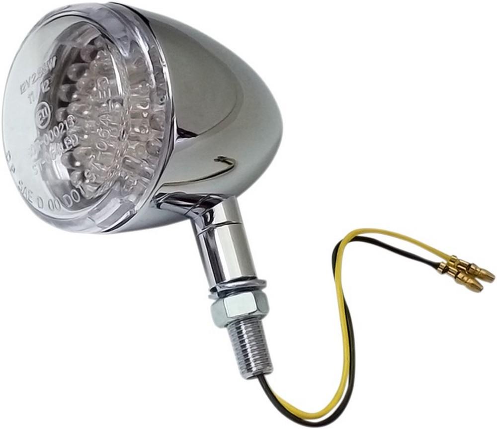 K&S TECHNOLOGIES ケイアンドエステクノロジーズ ウインカー DOT-LED S/F クリアー/クロム 【TRNSIG DOT-LED S/F CLR/CH [2020-1037]】