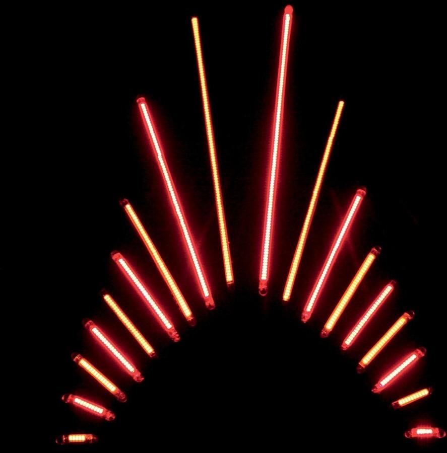 CUSTOM DYNAMICS カスタムダイナミックス その他灯火類 アクセントランプ TRUFLEXモデル 115 レッド 【LIGHT TRUFLEX 115RED/RED [2040-0930]】