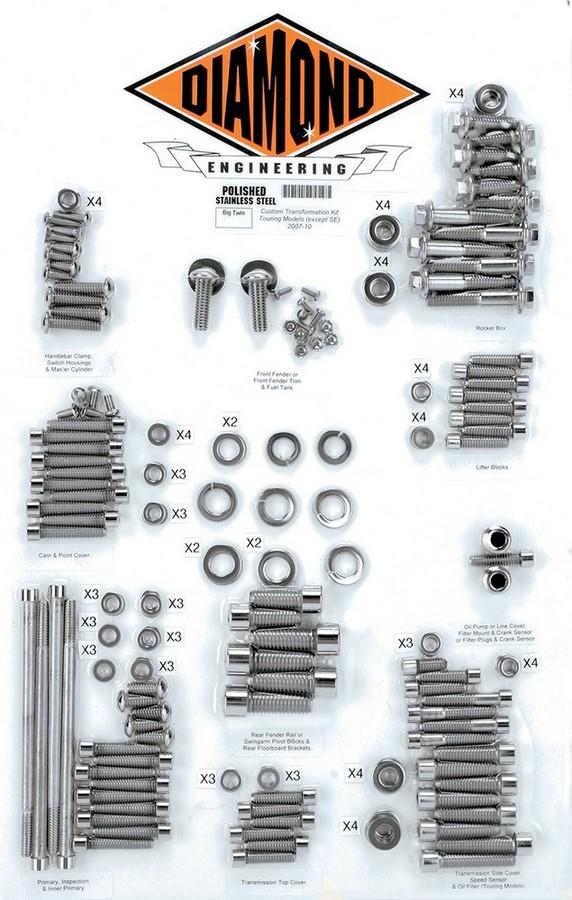 DIAMOND ENGINEERING ダイアモンドエンジニアリング ボルトキットトランスミッションフレーム07-10FL 【BOLT KIT TRNSFRM 07-10FL [2401-0221]】