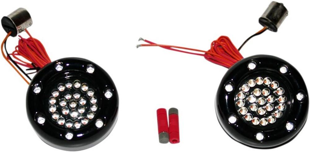 CUSTOM ダイナMICS カスタムダイナミックス ウインカー ランプ1156 レッド/アンバー/スモーク ブラック 【LAMP 1156 RED/AMB/SMK BLK [2060-0452]】