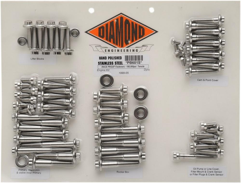 DIAMOND ENGINEERING ダイアモンドエンジニアリング その他エンジンパーツ ボルトキット99-05 FXD MTR 【BOLT KIT 99-05 FXD MTR [2401-0144]】