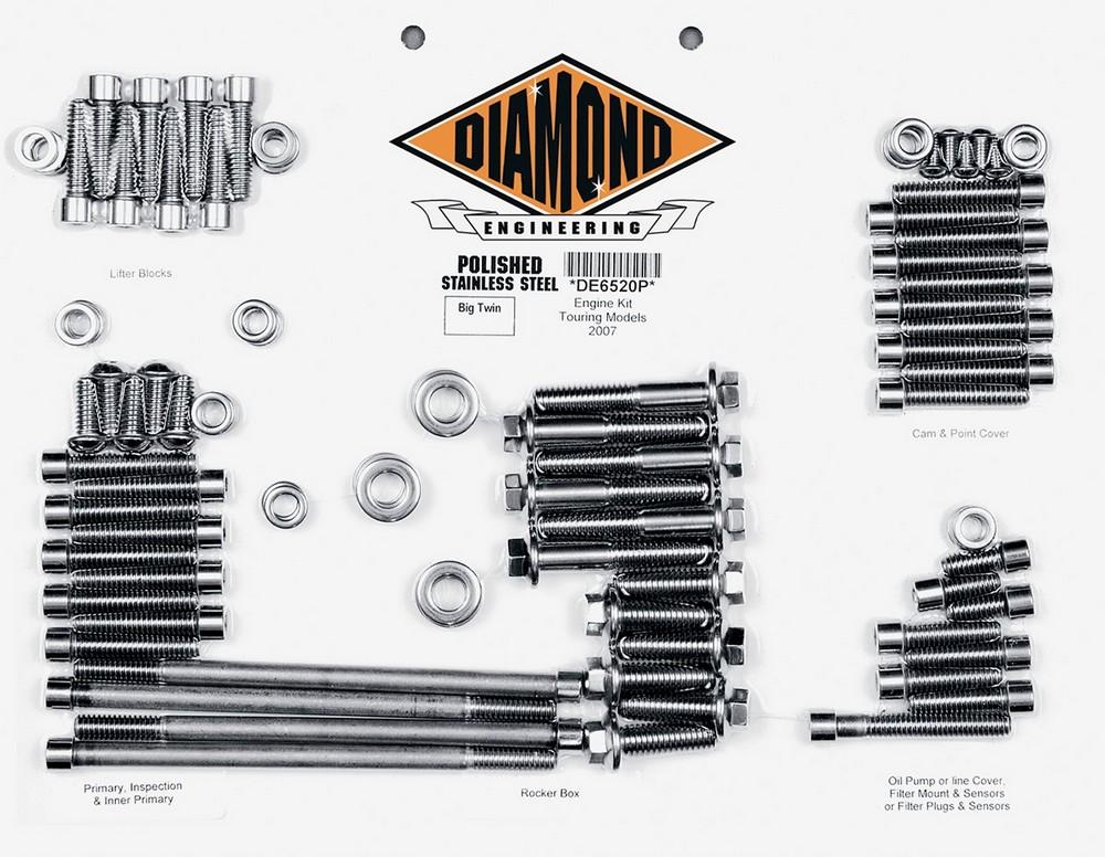 DIAMOND ENGINEERING ダイアモンドエンジニアリング その他エンジンパーツ ボルトキットエンジン 07-16 FLHT 【BOLT KIT ENG 07-16 FLHT [2401-0262]】