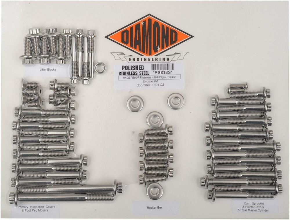 DIAMOND ENGINEERING ダイアモンドエンジニアリング その他エンジンパーツ ボルトキットエンジン XL 91-03 【BOLT KIT ENGINE XL 91-03 [2401-0845]】