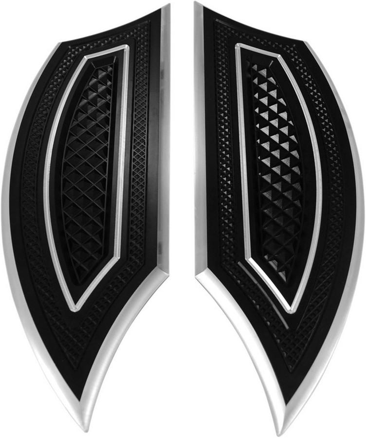 EDDIE TROTTA DESIGNS エディートロッタデザイン フットペグ・ステップ・フロアボード ステップボード ブラック 86-17 【FLOORBOARDS BLACK 86-17 [1621-0201]】