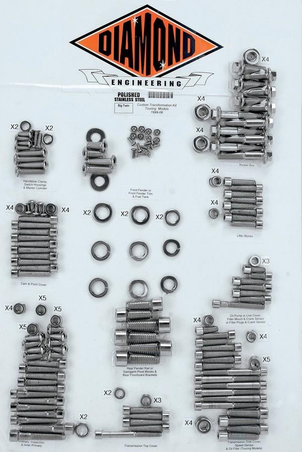 DIAMOND ENGINEERING ダイアモンドエンジニアリング ボルトキット トランスミッションフレーム99-06 FL 【BOLT KIT,TRNSFRM 99-06 FL [2401-0217]】