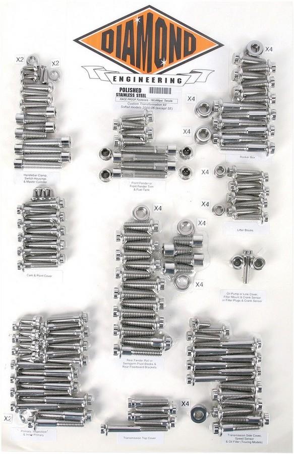 DIAMOND ENGINEERING ダイアモンドエンジニアリング その他外装関連パーツ ボルトキット トランスミッション F12PT00-06ST 【BOLT KT TRANSF12PT00-06ST [2401-0400]】
