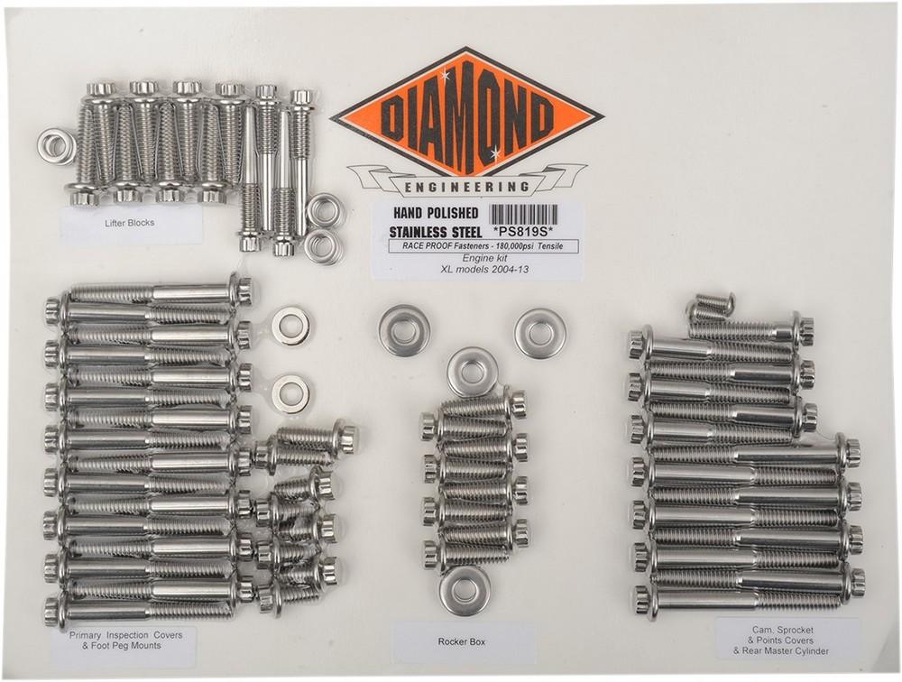 DIAMOND ENGINEERING ダイアモンドエンジニアリング その他エンジンパーツ ボルトキットエンジン XL 04-17 【BOLT KIT ENGINE XL 04-17 [2401-0846]】
