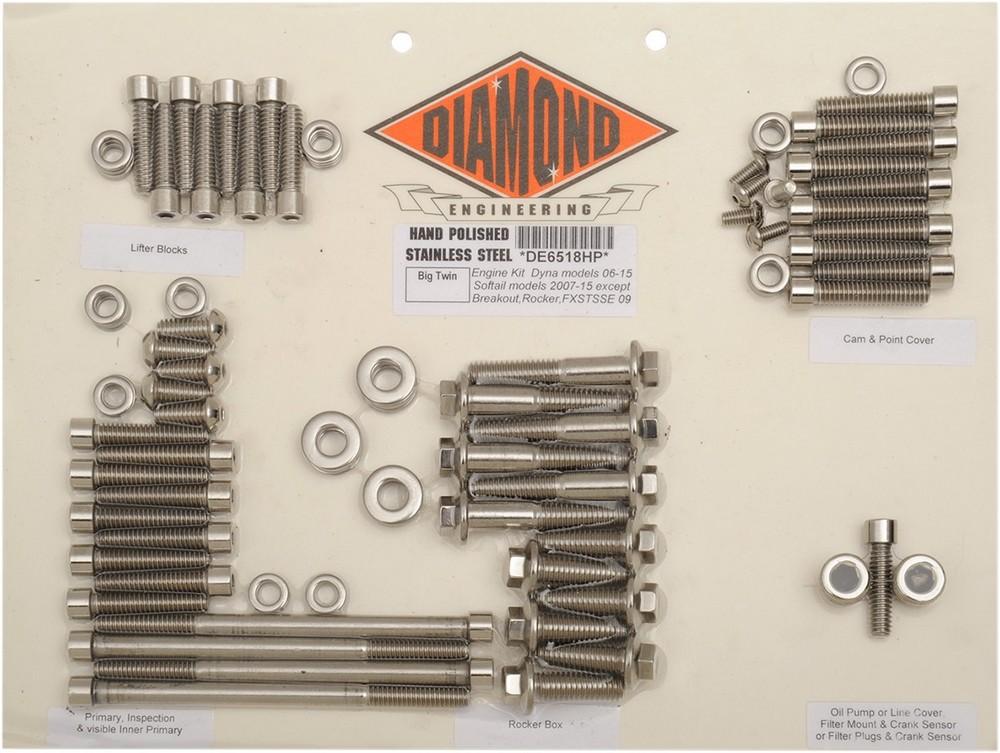 DIAMOND ENGINEERING ダイアモンドエンジニアリング その他エンジンパーツ ボルトキットエンジン 07-17 ST 【BOLT KIT ENGINE 07-17 ST [2401-0265]】