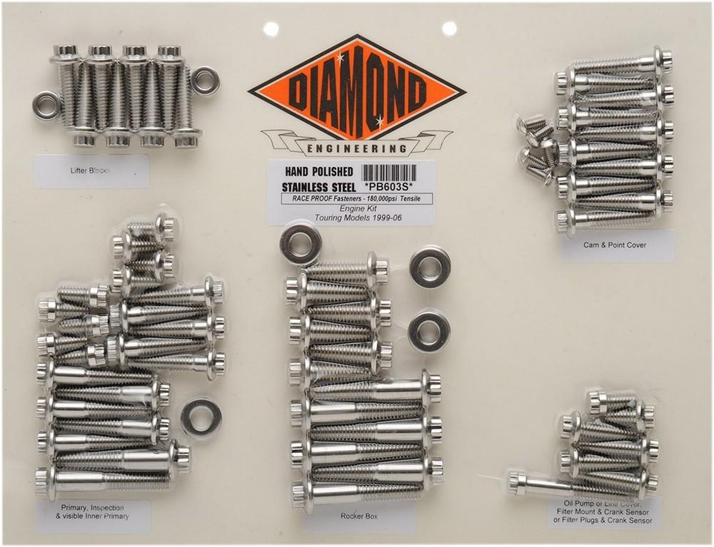 DIAMOND ENGINEERING ダイアモンドエンジニアリング その他エンジンパーツ ボルトキット99-06 FLT MTR 【BOLT KIT 99-06 FLT MTR [2401-0143]】