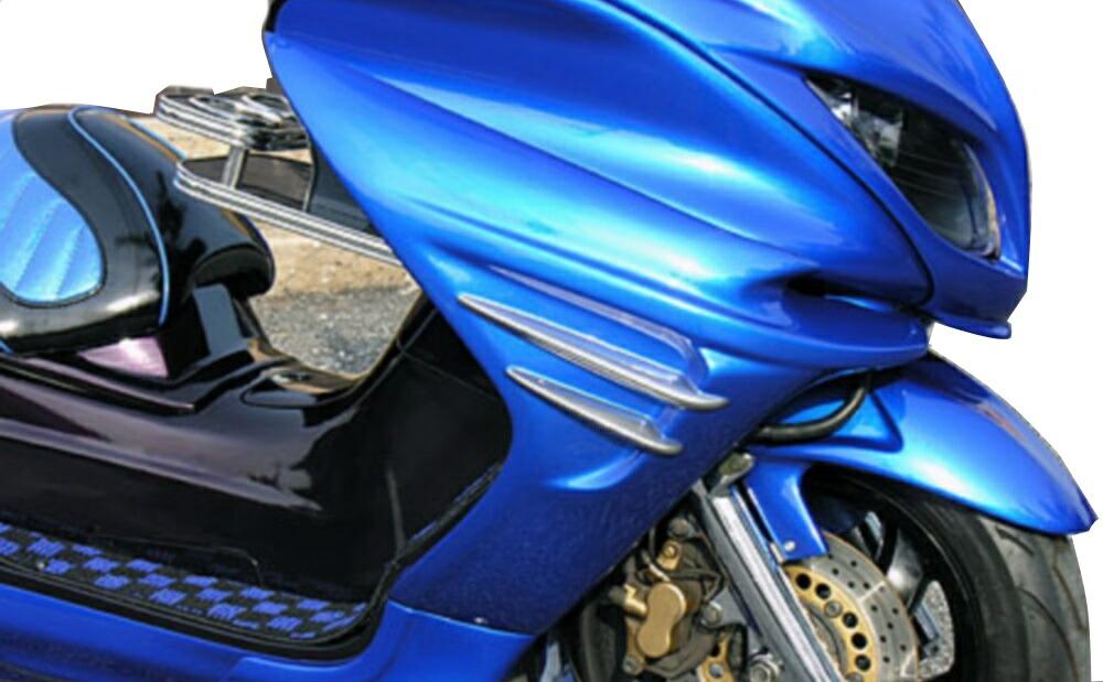 【イベント開催中!】 WirusWin ウイルズウィン スクーター外装 ソリッドバイザーカウル タイプG フィンバージョン 塗装無し マジェスティ250(SG03J)