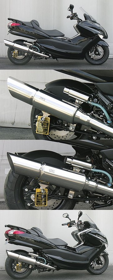 WirusWin ウイルズウィン フルエキゾーストマフラー ビッグキャノンマフラー キャタライザー付 (排ガス浄化触媒) マジェスティ250(SG20J)