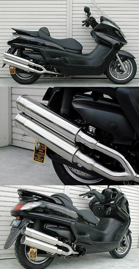 WirusWin ウイルズウィン フルエキゾーストマフラー スタイリッシュツインマフラー バズーカータイプ グランドマジェスティ400