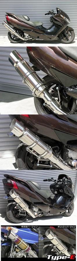 WirusWin ウイルズウィン フルエキゾーストマフラー ビーストマフラー タイプE 焼き色バージョン スカイウェイブ250